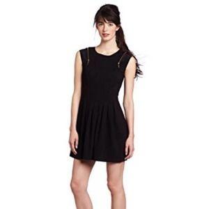 Ted Baker black zipper shoulder dress